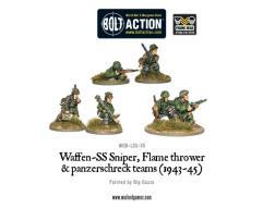 Waffen-SS - Sniper, Flame Thrower, Panzerschreck Teams (1943-45)