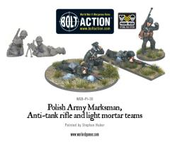 Marksman, Anti-Tank Rifle & Light Mortar