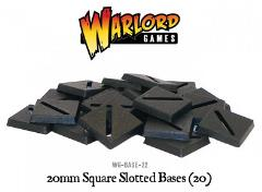 20mm Square Slotted Bases (20)