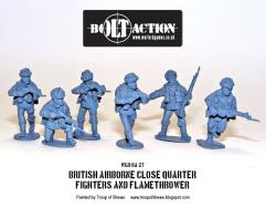 British Airborne Close Quarters Fighters and Flamethrower