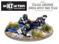 Italian Airborne - Breda HMG Team