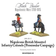 Mounted British Infantry Officers - Peninsular