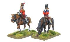 Mounted British Infantry Officers - Waterloo