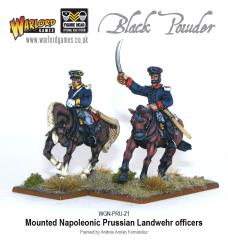 Mounted Prussian Landwehr Officers
