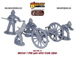 British 7 Pdr. Gun  & Crew