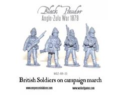 British Soldiers on Campaign March