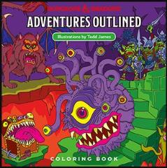 Dungeons and Dragons Adventures Outlined - Coloring Book