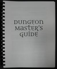 Dungeon Master's Guide 3.0 (Pre-Publication Edition, Spiral Bound)