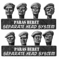 British Paratrooper Heads in Berets