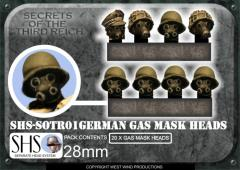German Gas Mask Heads