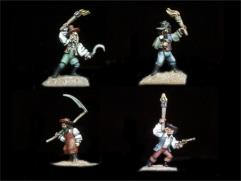 Transylvanian Mob #1 w/Various Weapons