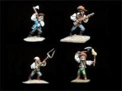 Transylvanian Mob #2 w/Various Weapons