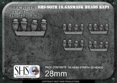American Civil War Kepi + Gas Mask Heads