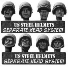 US Heads in Steel Helmets