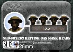 British Gas Mask Heads