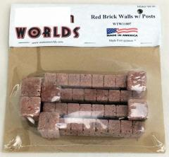 Quick Pack - Red Brick Walls w/Posts