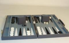 Backgammon Set w/Grey Vinyl Case