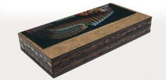 """20"""" King Tut Decoupage Backgammon Board"""