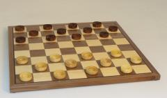 "Checker Set w/1"" Wood Pieces"