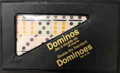 Ivory Dominoes w/Vinyl Snap Case