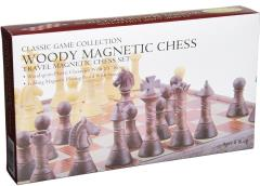 "11"" Woody Magnetic Travel Chess"
