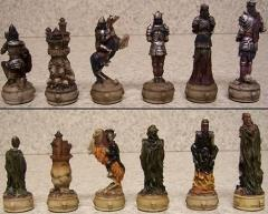 """3"""" Skeleton Resin Chessmen"""