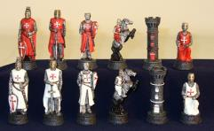 "3"" Crusades Red-White Resin Men on 45360B Board"