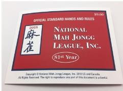 National Mah Jongg League Card - Large Print