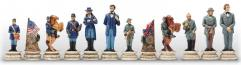 "3.25"" Civil War Generals Chessmen (Hand Painted Resin)"