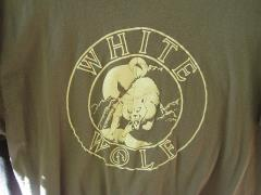 White Wolf Staff T-Shirt - First Style Ever Produced! (Grey, XL)