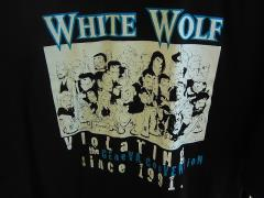 White Wolf Staff T-Shirt - Violating the Geneva Convention Since 1991 (XL)