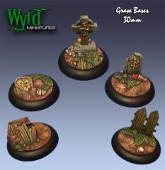 30mm Graveyard Bases (Metal)
