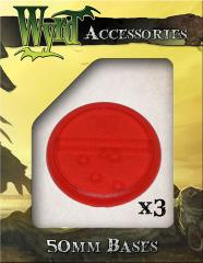 50mm Translucent Bases - Red
