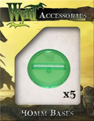 40mm Translucent Bases - Green