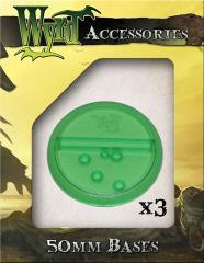 50mm Translucent Bases - Green