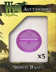 40mm Translucent Bases - Purple