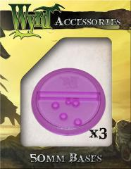 50mm Translucent Bases - Purple