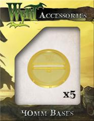 40mm Translucent Bases - Gold