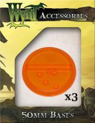 50mm Translucent Bases - Orange