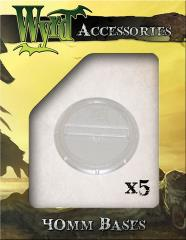 40mm Translucent Bases - Clear