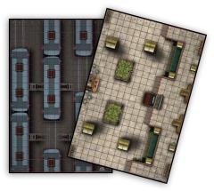 Heroclix Map - Train Station/Train Yard