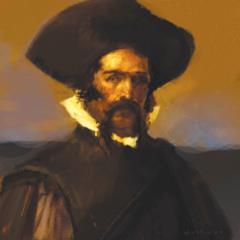 Captain Alarico Castro (R)