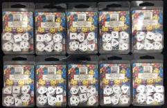 Poly Set White w/Black (7) - Ten 7 Piece Sets!