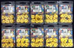 Poly Set Yellow w/Black (7) - Ten 7 Piece Sets!