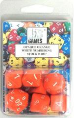 Poly Set Orange w/White (7)