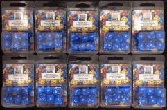 Poly Set Blue w/White (7) - Ten 7 Piece Sets!