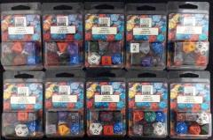 Poly Set Assorted Colors (7) - Ten 7 Piece Sets!