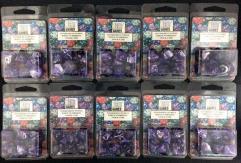 Poly Set Purple w/Gold (7) - Ten 7 Piece Sets!