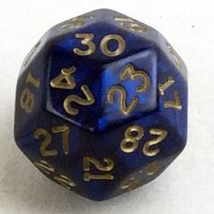 d30 Blue w/Gold (20mm)