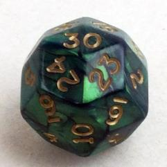 d30 Green w/Gold (20mm)